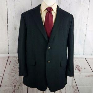 Jos A Bank 46R Suit Blazer Sports Coat Black